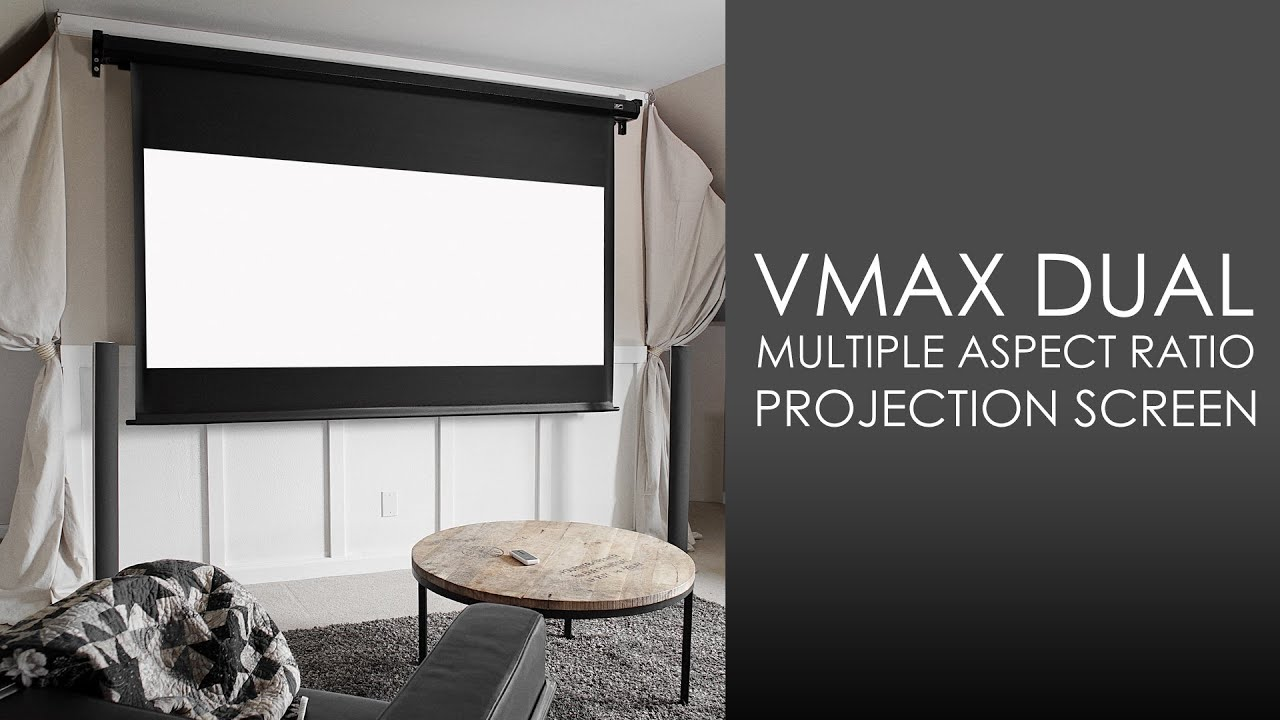 VMAX Dual Series Electric Projection Screen