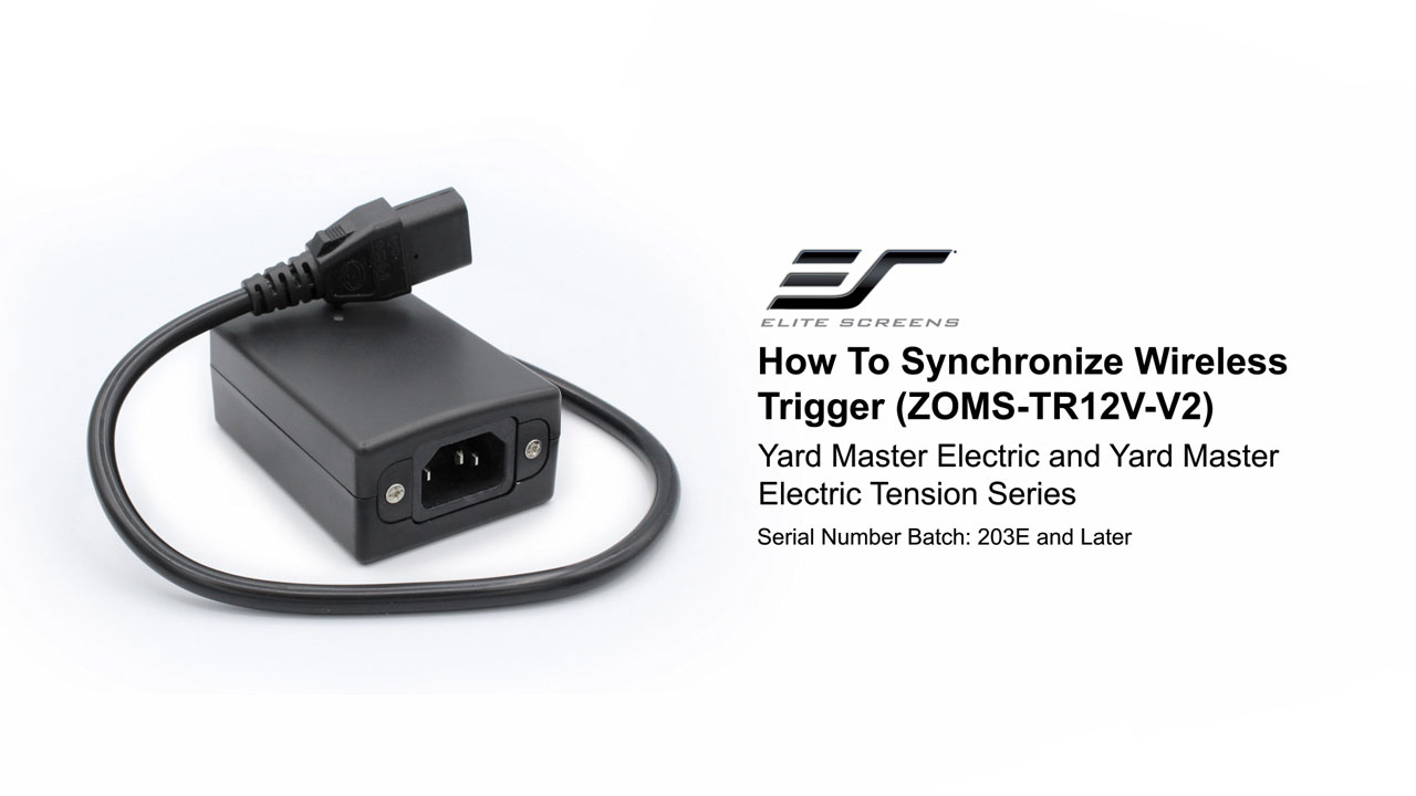 How to Synchronize Wireless Trigger (ZOMS-TR12V-V2) for Yard Master Electric Series