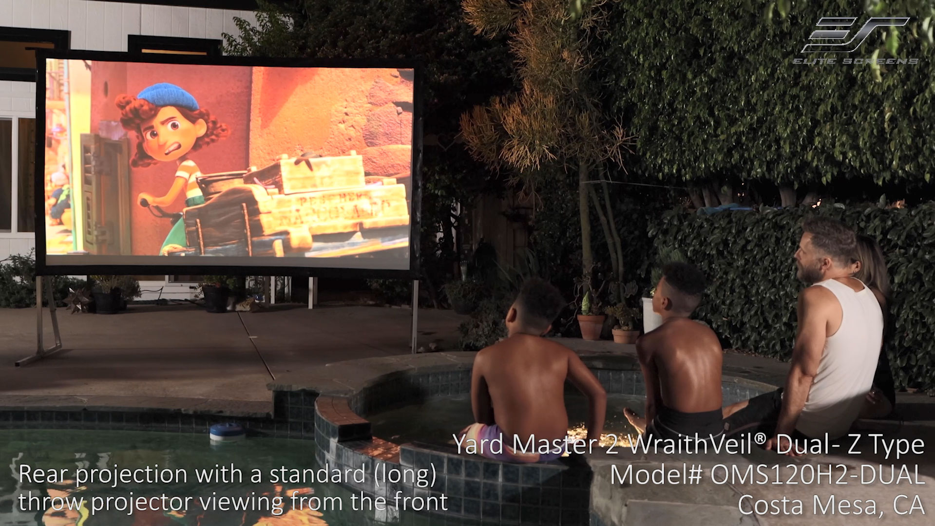 Yard Master 2 WraithVeil® Dual in Costa Mesa, CA | Front and Rear Projector Screen