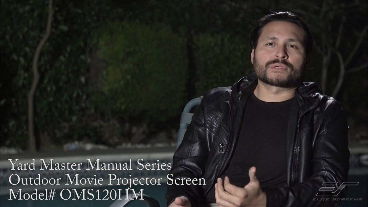 YardMaster Manual All-Weather Projection Screen - Customer Testimonial - Downey, CA