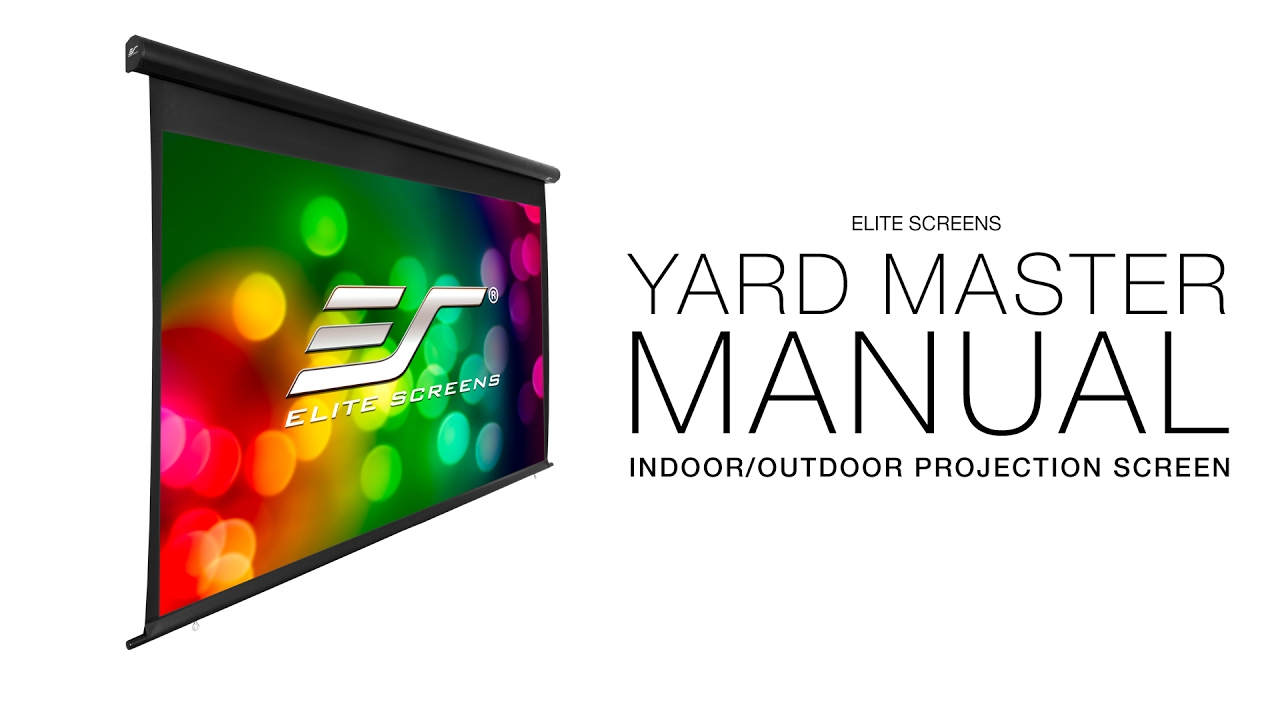 YardMaster Manual Indoor/Outdoor Retractable Projection Screen