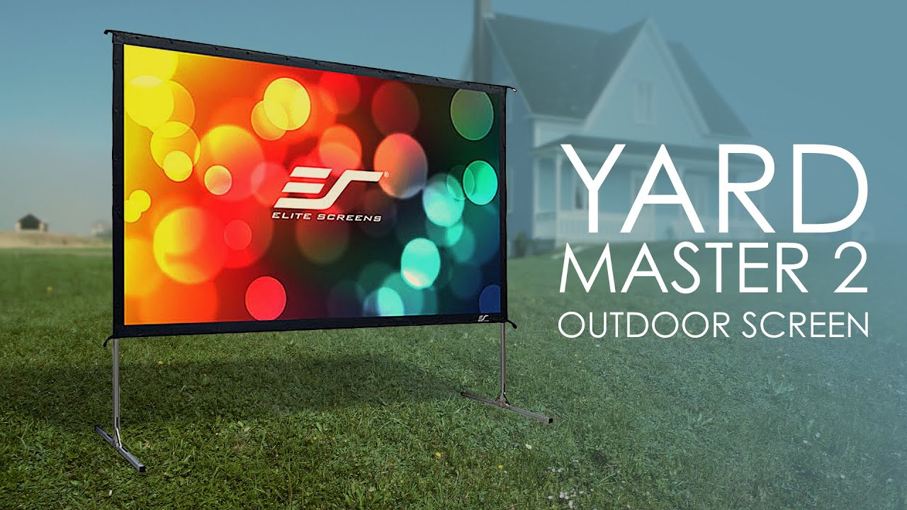 Yard Master 2 Series Outdoor Projection Screen Product Video