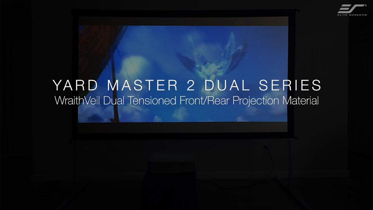 Yard Master 2 WraithVeil® Dual Series- Outdoor Front and Rear Projection Screen