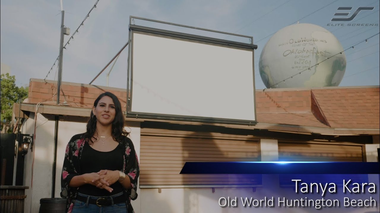 Yard Master Electric Outdoor Motorized Projection Screen Testimonial