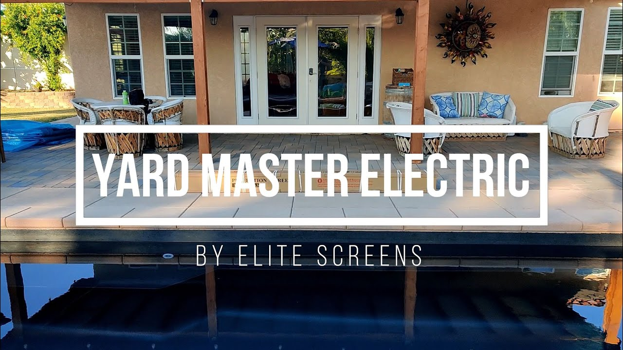 Yard Master Electric Tension Outdoor Projection Screen Product Review by JoelsterG4K