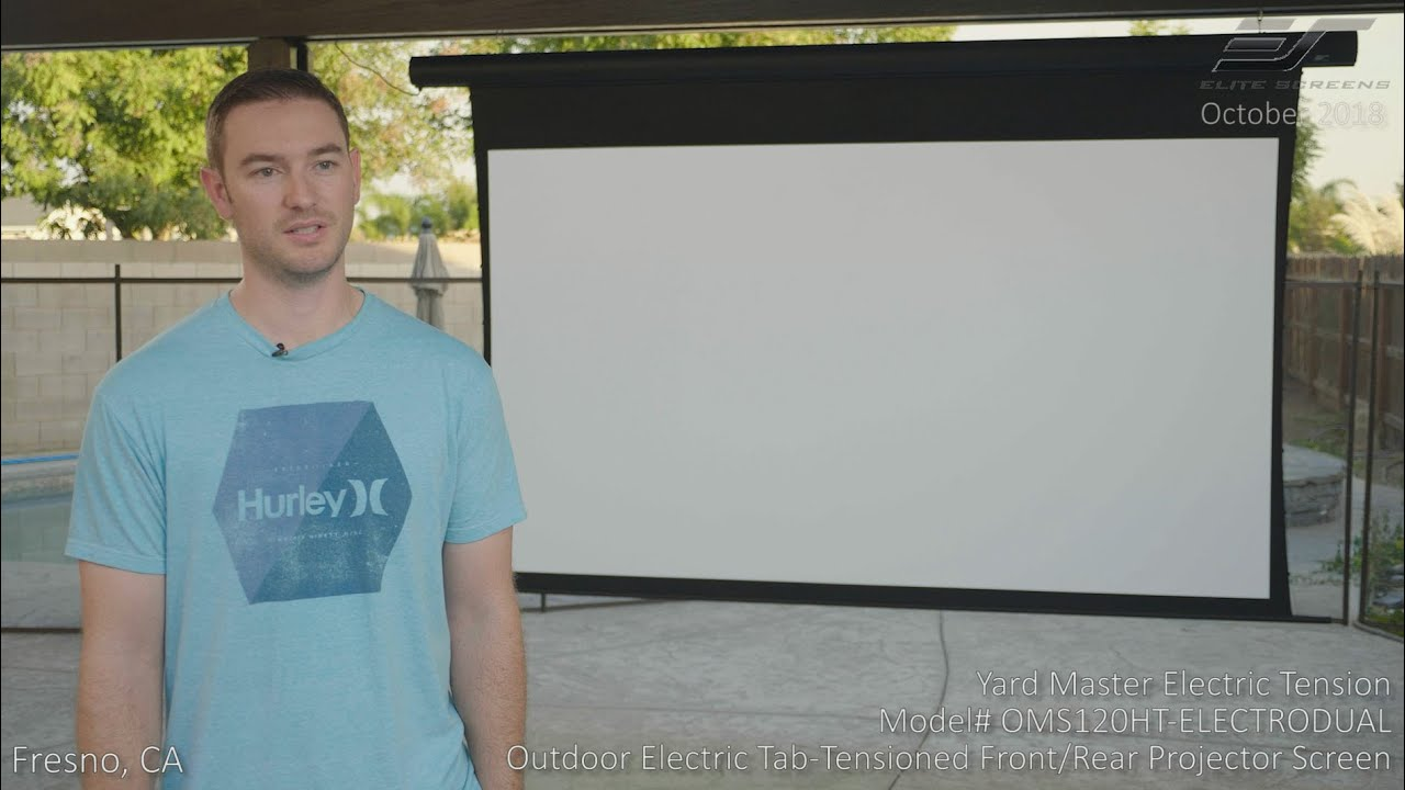 Yard Master Electric Tension Series Outdoor Dual Projector Screen in Fresno, CA  Power by YoutuWP