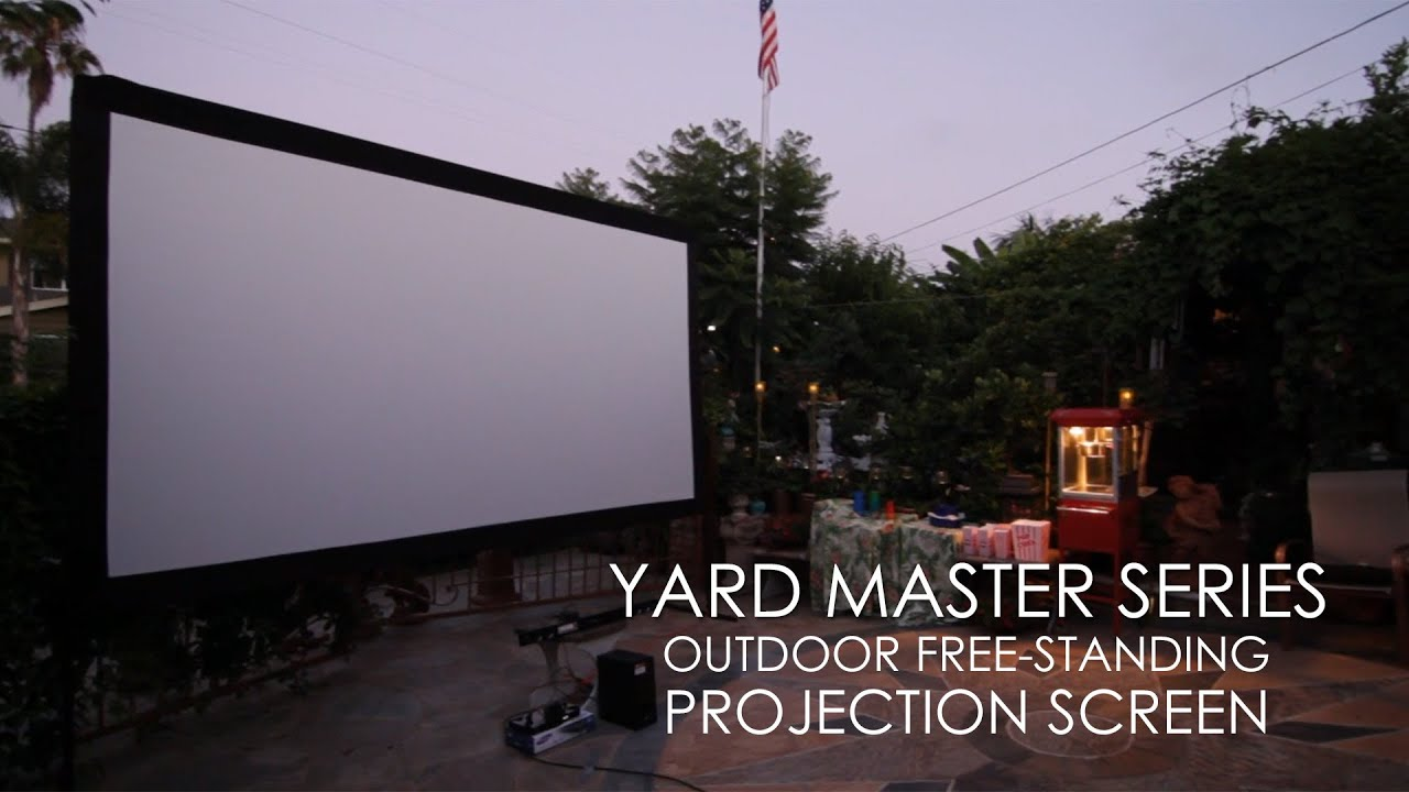 Yard Master Series Outdoor Free-Standing Projection Screen