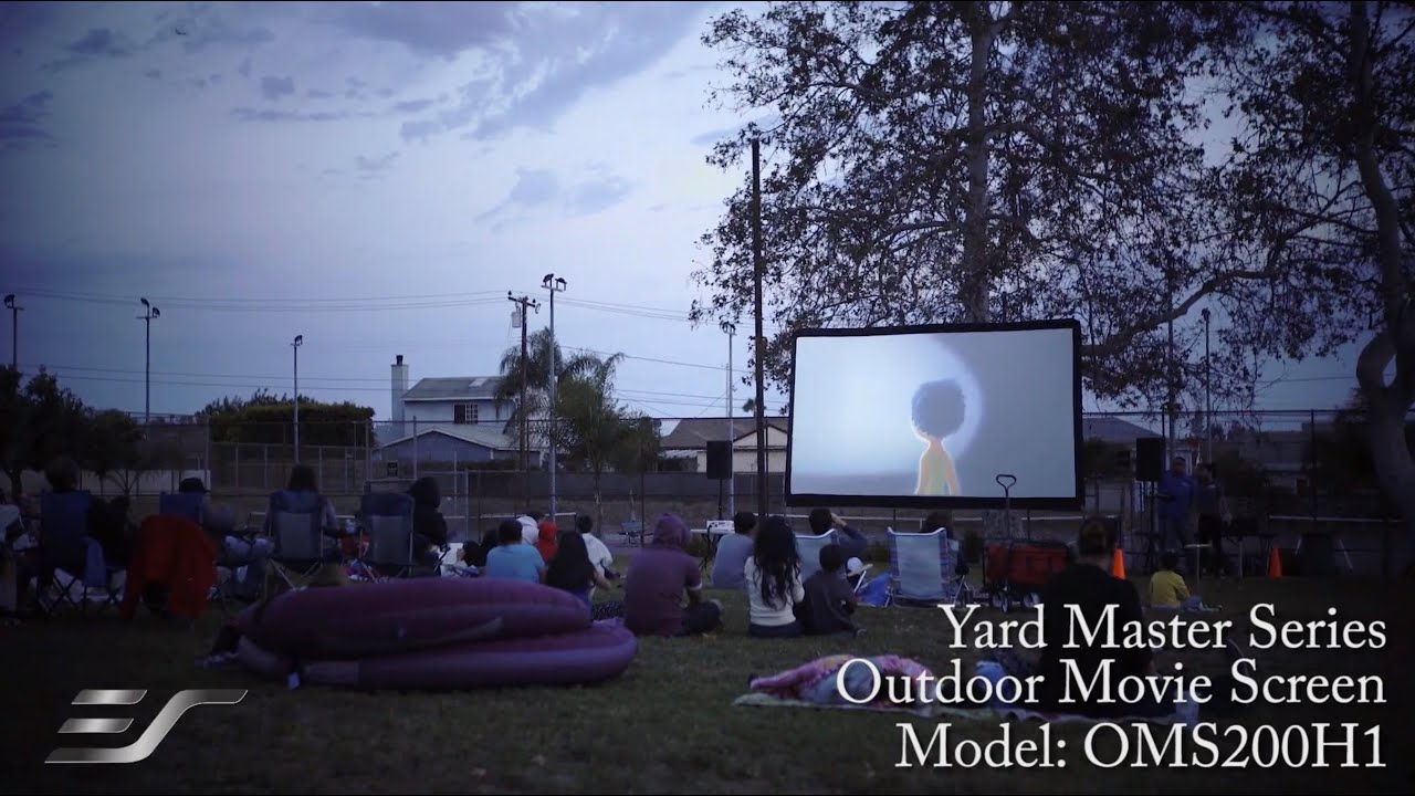 Yard Master Series Outdoor Projection Screen In Use at George Elder Park