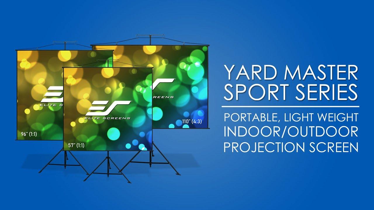 Yard Master Sport Ultra Lightweight Projector Screen Product Video