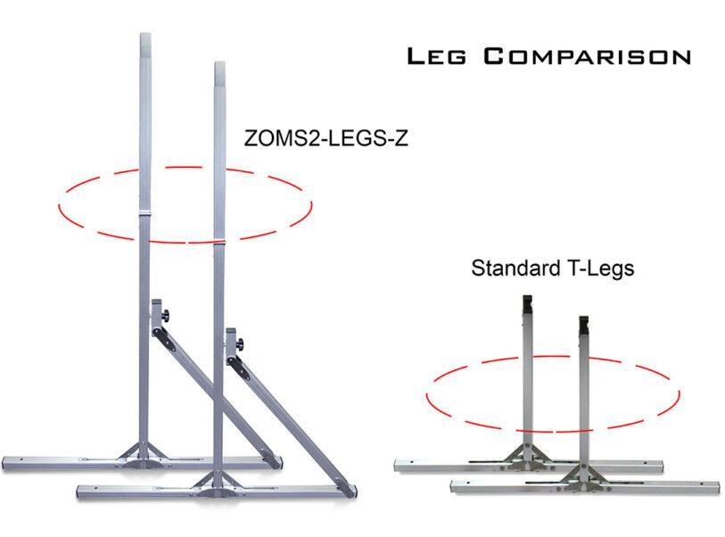 Yard Master 2 Series Leg Comparison