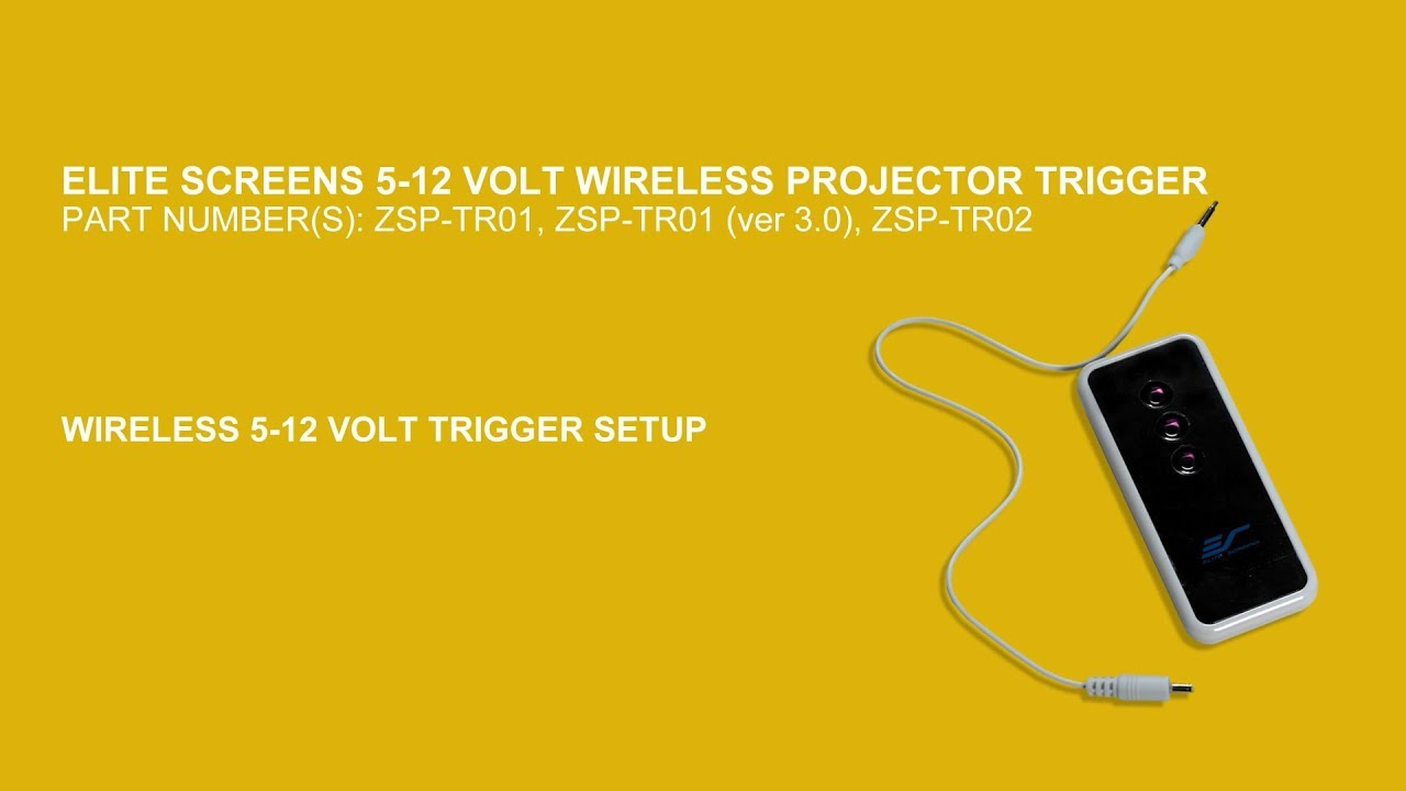 ZSP-TR01 Wireless 5-12 Volt Trigger Setup Instructions