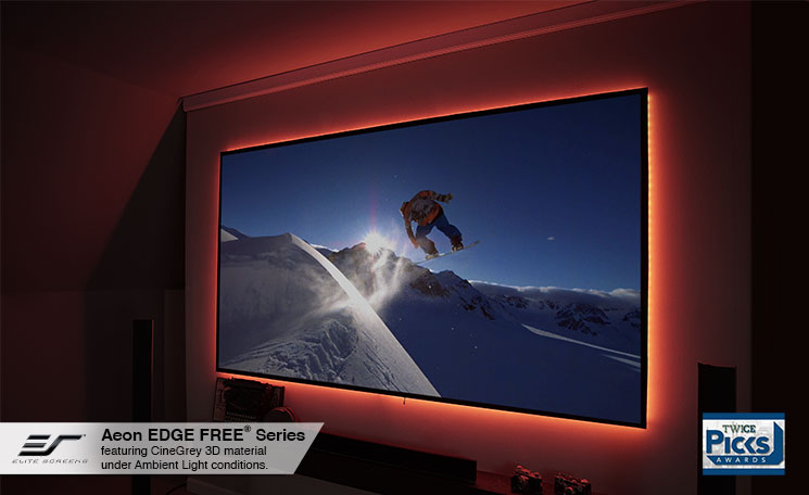 Aeon CineGrey 3D® Series Winner of Twice Magazines 2015 CES Picks Award | Shown with Optional LED Backlight Kit