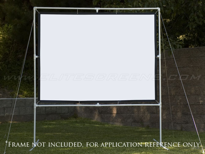 DIY Pro Screen Series with Customized Frame Made of Plastic Pipes (Not Included)