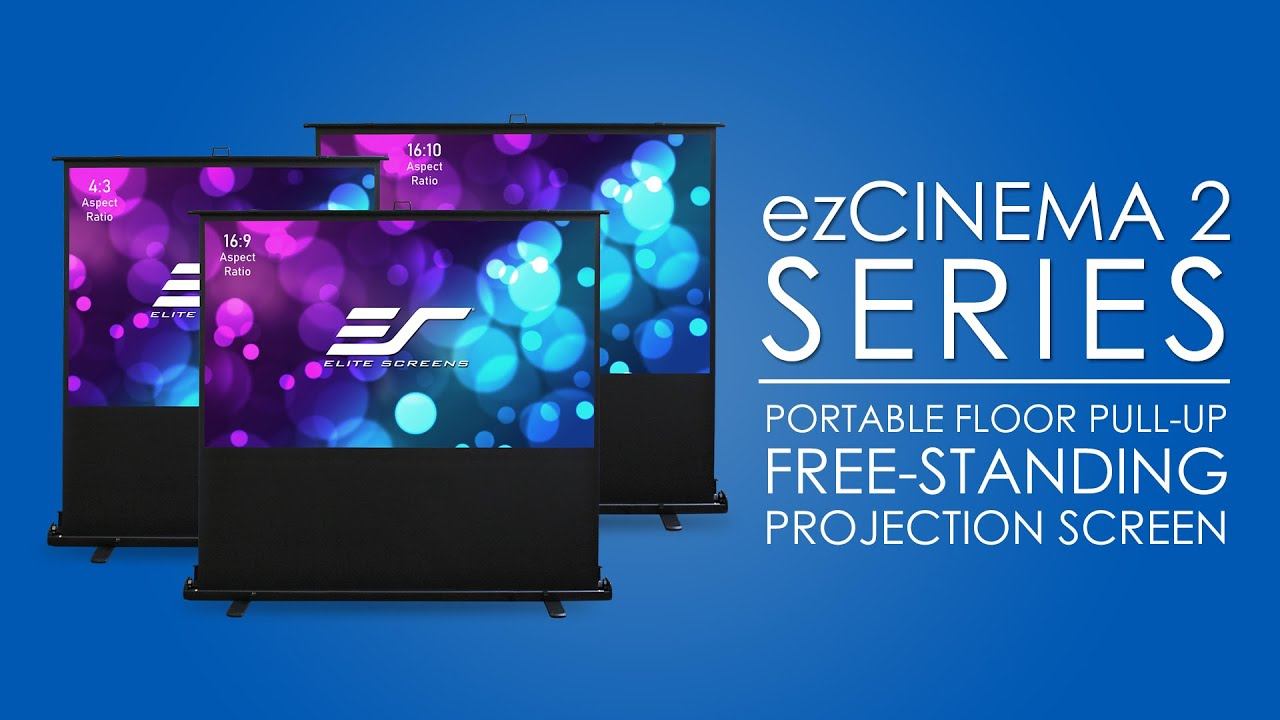 ezCinema 2 Portable Floor Pull-Up Projection Screen