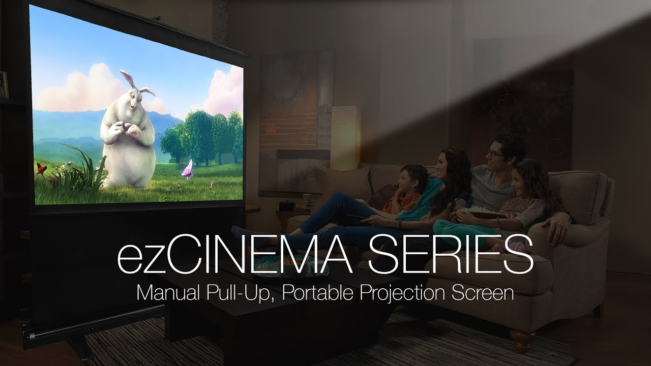 ezCinema Series Portable Pull-Up Projection Screen