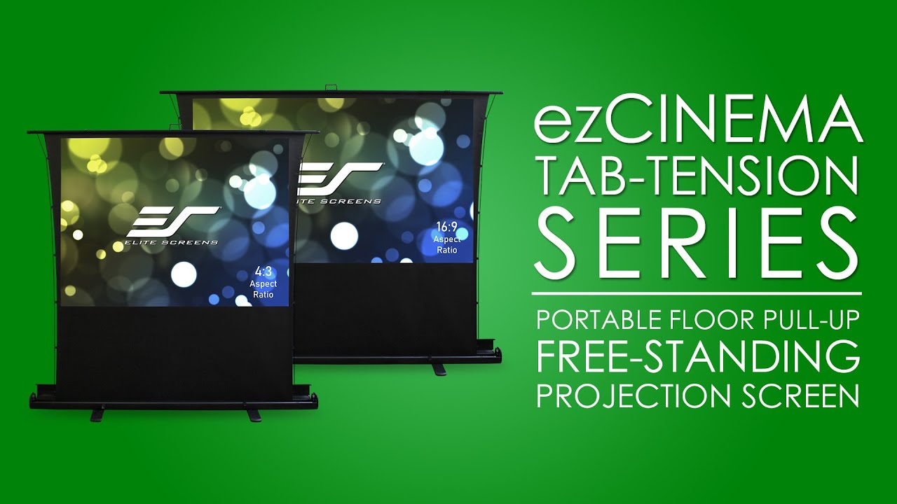 ezCinema Tab-Tension Portable Pull Up Projection Screen