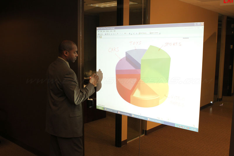 Insta-DE Series Turns a Glass Window into a Projection Screen and Dry Erase Whiteboard in Seconds