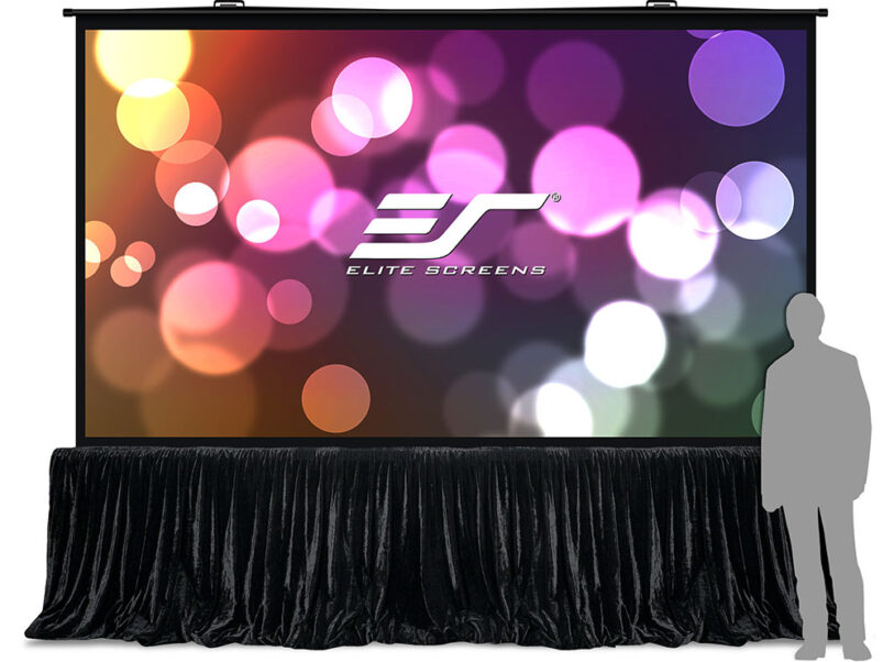 QuickStand 5-Second Series Large Venue Portable Projection Screen