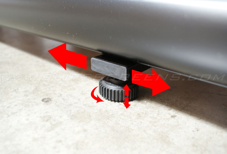 Sliding Legs with Rotating Cup Leveler Helps Stability on Uneven Floors