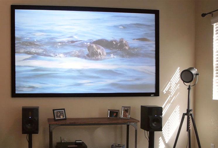 Sable Frame Cinegrey 3d Series Elite Screens Projector Screens