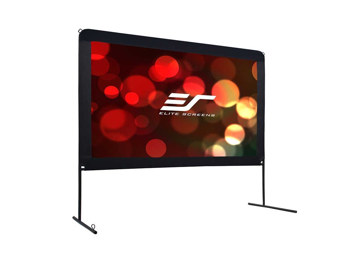Elite Screens Yard Master 2 110 inch Outdoor Projector Screen with Stand 16:9 8K 4K Ultra HD 3D Fast Folding Portable Movie Theater Cinema 110 Indoor Foldable Easy Snap Projection Screen OMS110H2